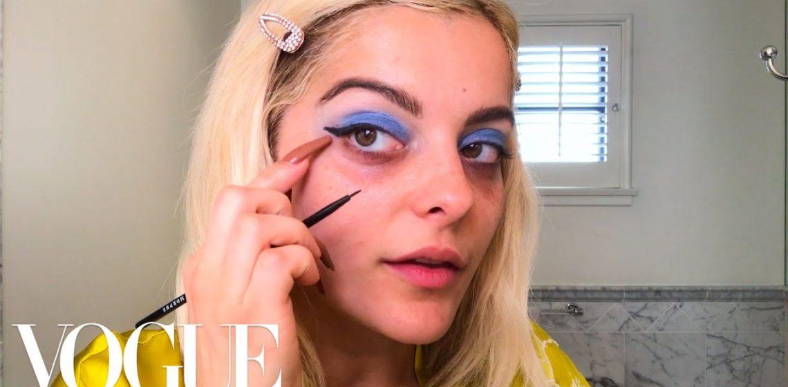 Bebe Rexha ne invata un machiaj albastru